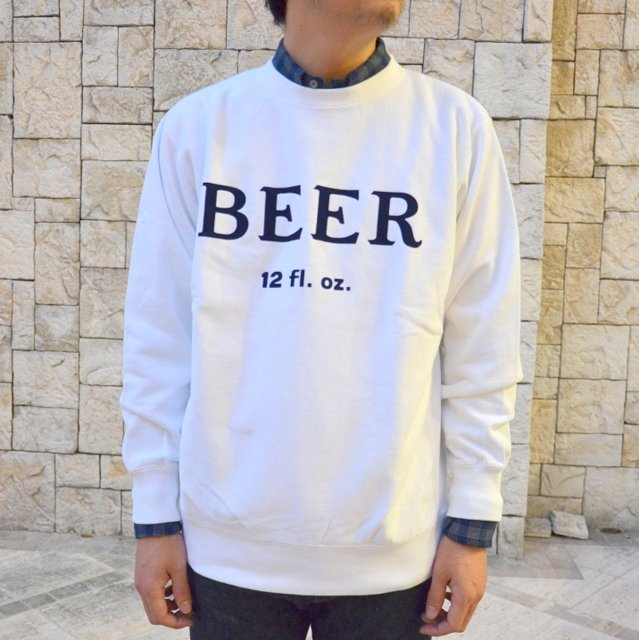 FUNG(ファング)/ BEER Sweat-WHITE-