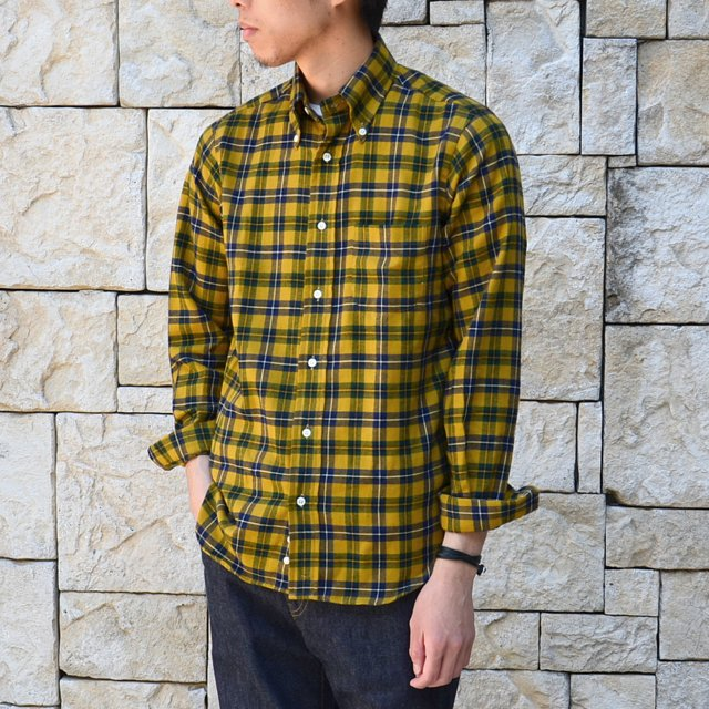 INDIVIDUALIZED SHIRTS(インディビジュアライズドシャツ)/1868 Check Standard Fit-YELLOW-