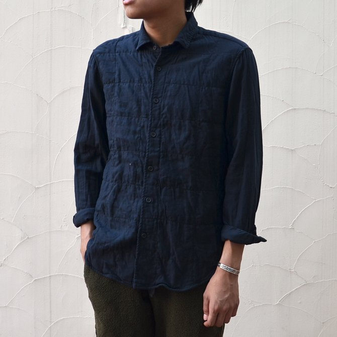CASEY CASEY(ケーシーケーシー)/ CASHCOT SHIRTS -BLACK-