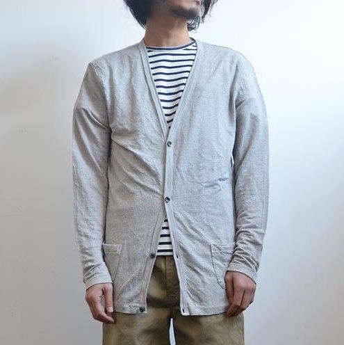 J.SABATINO(サバティーノ)/Linen Cardigan -Grey- 【Z】