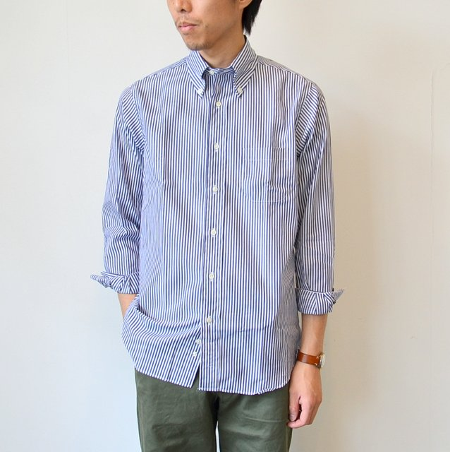 INDIVIDUALIZED SHIRTS(インディビジュアライズドシャツ)/BENGAL STRIPE B.D.(Standard fit) -NAVY STRIPE-