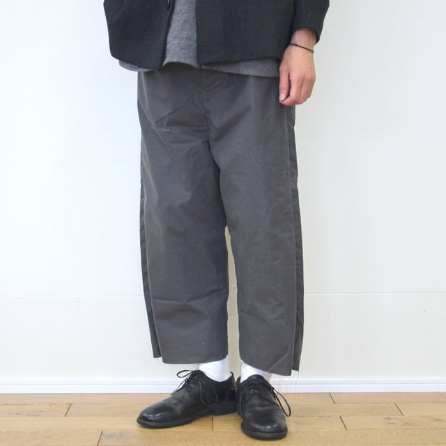 too good(トゥーグッド) / THE SCULPTOR TROUSER WAXED COTTON-CLAY-