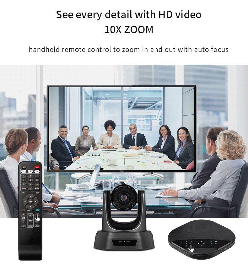Tenveo正規代理店 TEVO-VA3000 web会議カメラ 14人以上対応 Bluetoothスピーカーフォン 拡張マイク付き 10倍ズーム 高画質 自動フォーカス webカメラ ウェブカメラ ビデオ会議システム オール-イン-ワン PTZカメラ (TEVO-VA3000)