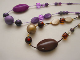 MARU BY SAFRIイタリア直輸入選べる2色♪大きめパーツネックレス 紫、茶(ヨーロッパ/アクセサリー直輸入/レディース/インポート/コスチュームジュエリー)