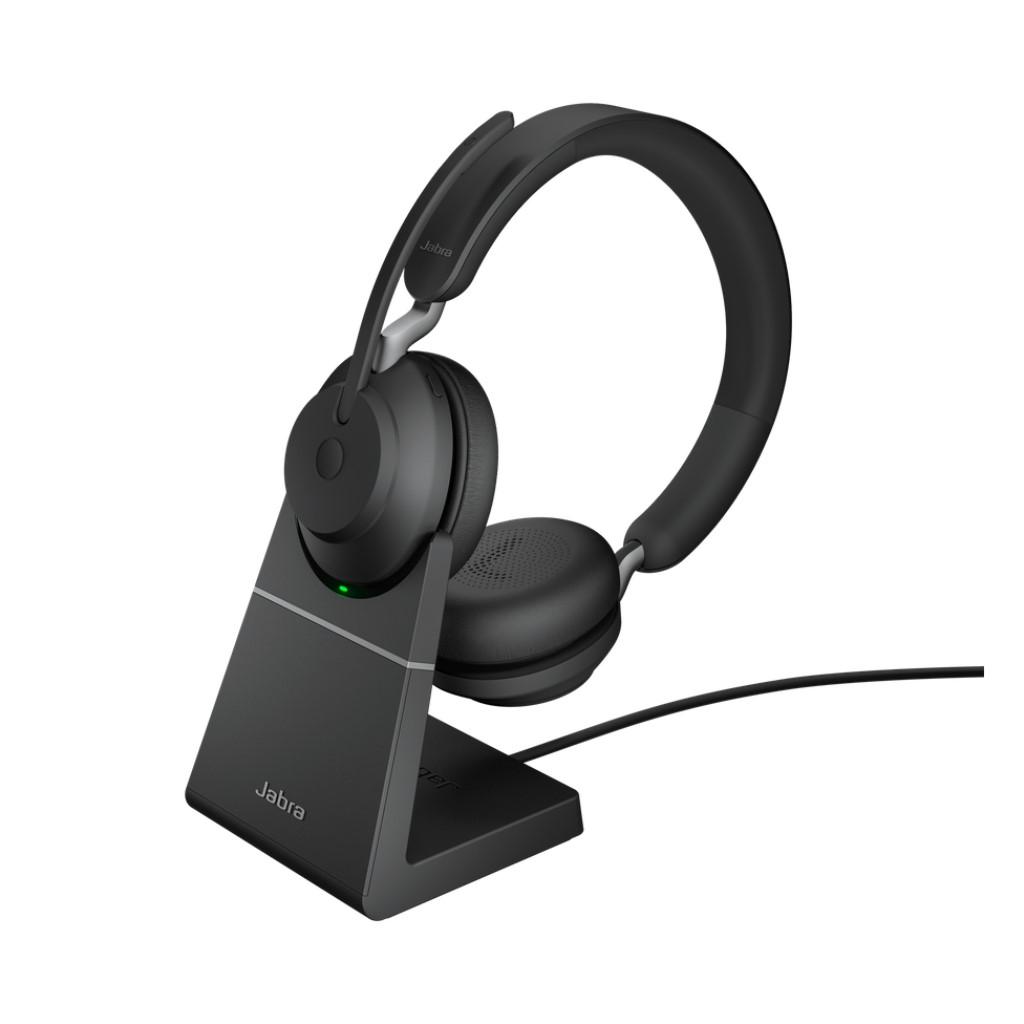 送料無料 Jabra Evolve2 65 MS Stereo USB-A Black 充電スタンド付き/国内サポート2年保証/在宅勤務/テレワーク会議ヘッドホン/ZOOMズーム TEAMS/丈夫で壊れにくいヘッドセット(両耳)/音楽·ゲームにも最適/ブラック/GNオーディオ
