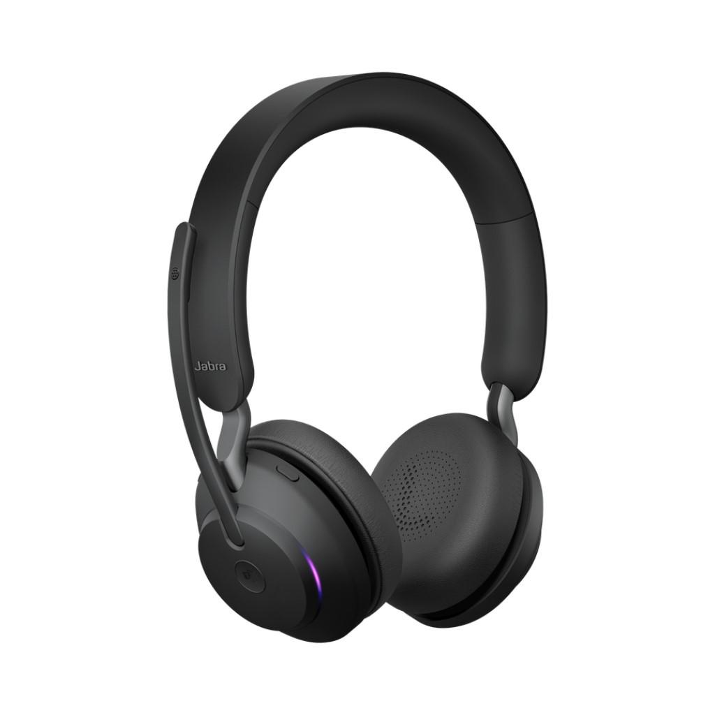 Jabra Evolve2 65 MS Stereo USB-C Black 両耳 国内サポート2年保証 在宅勤務 テレワーク会議用ヘッドホン ZOOMやTEAMSにも対応 音楽やゲームでも使用可能 丈夫で壊れにくいヘッドセット ブラック 充電スタンドなし 送料無料 GNオーディオ
