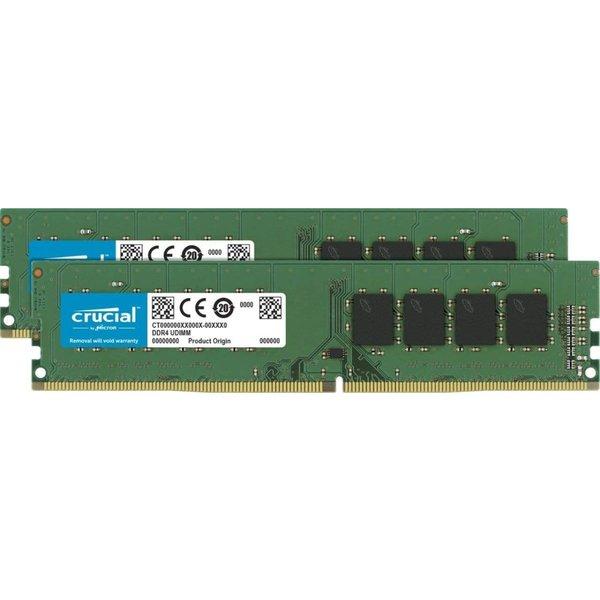 デスクトップ向け増設メモリ 安心のMicronチップ採用 Crucial 32GB Kit (16GBx2) DDR4 2666 MT/s (PC4-21300) CL19 DR x8 Unbuffered DIMM 288 クルーシャル デスクトップパソコンメモリー
