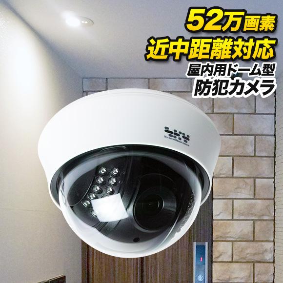 赤外線 防犯カメラ 【防犯カメラ・監視カメラ】52万画素カラー 赤外線LED内蔵屋内カメラ 近中距離対応 SX-PDM41VR
