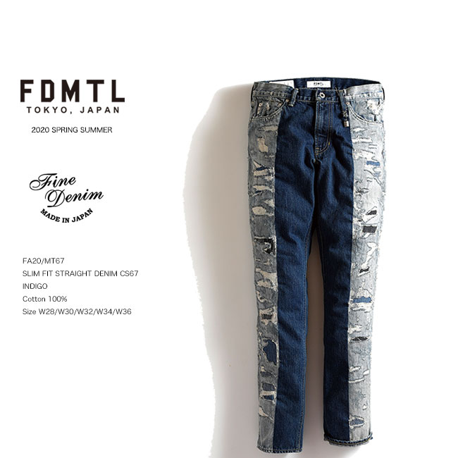 FDMTL SLIM FIT STRAIGHT DENIM CS67 スリムデニムパンツ fa20ss