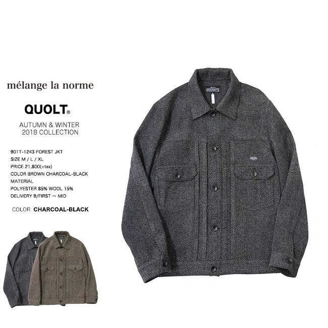 30%OFF SALE quolt クオルト FOREST JKT ジャケット 1243 qu18aw セール