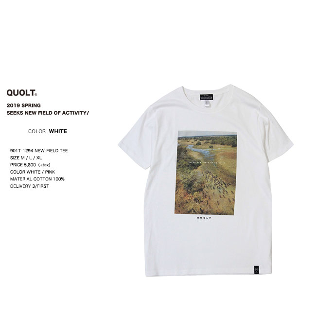 20%OFF quolt クオルト NEW-FIELD TEE Tシャツ 1294 qu19sp