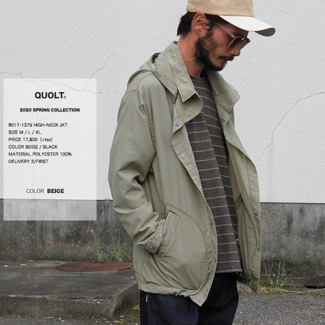 20%OFF クオルト quolt HIGH-NECK JKT シャツジャケット qu20ss