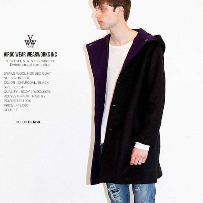 30%OFF SALE VIRGO ヴァルゴ ウールフードコー SNAILS WOOL HOODED COAT ジャケット 日本製 19aw セール