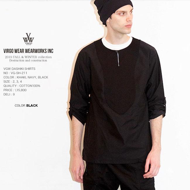30%OFF SALE VIRGO ヴァルゴ VGW DASHIKI SHIRTS ダシキシャツ 日本製 19aw セール