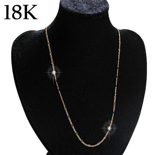 【送料無料】【オリジナル商品】18Kゴールドネックレス 18K K18 カッティング ゴールド ネックレス ネックレスチェーン チェーン