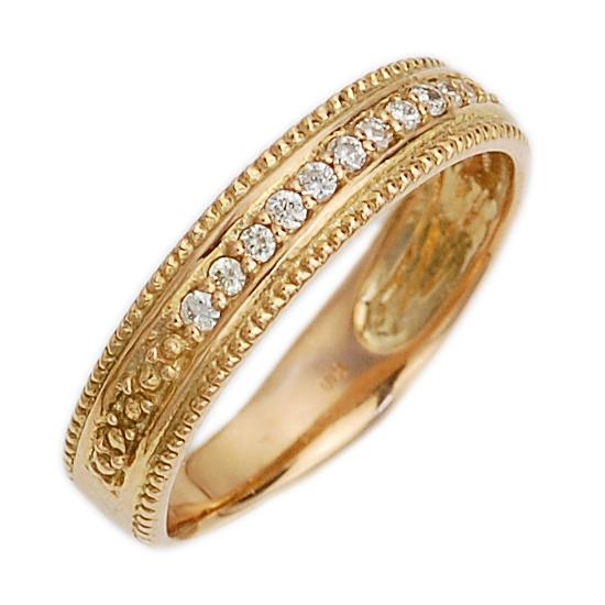 K18PG ダイヤモンド ピンキーリング 指輪 ピンクゴールド/送料無料