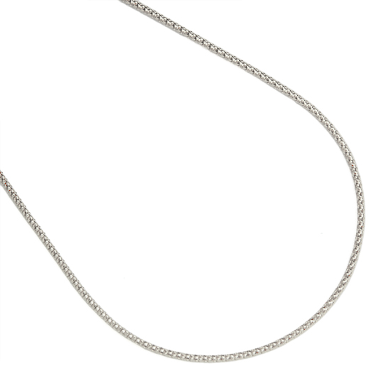 K18WG ホワイトゴールドゴールド 45cm チェーン/送料無料