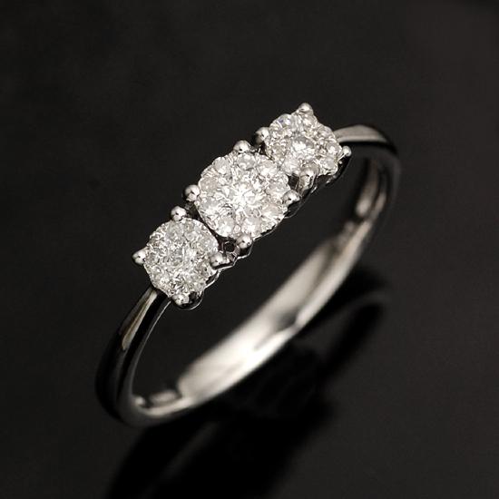 K18WG ダイヤモンド計0.25ct リング Allure/送料無料