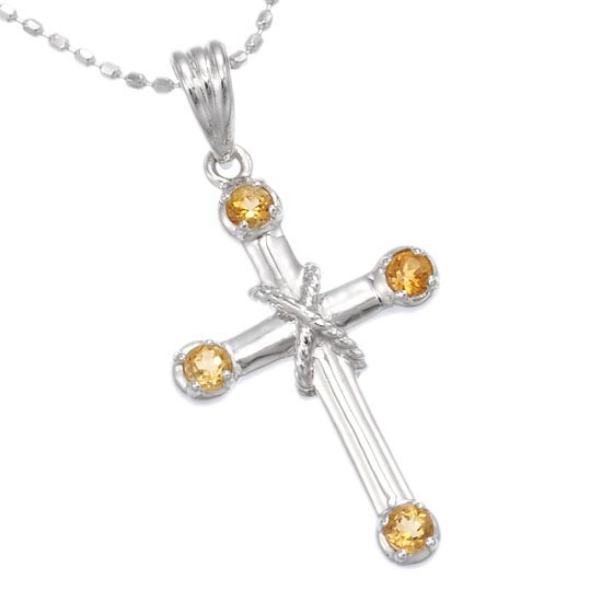 Accessorymart rakuten global market citrine cross necklace citrine cross necklace aloadofball Gallery