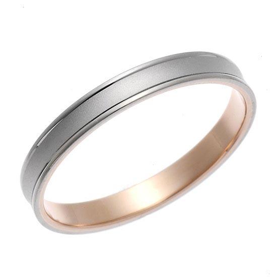 K18ホワイトゴールド・ピンクゴールドリング 指輪 ペアリング/送料無料