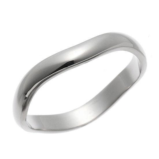 K18ホワイトゴールドリング 指輪ペアリング/送料無料