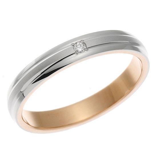 Pt900 プラチナ・K18ピンクゴールドリング 指輪ペアリング/送料無料