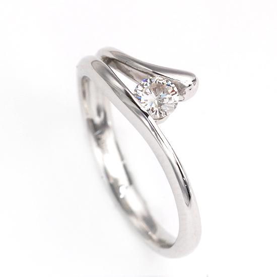 Pt900一粒ダイヤモンドプラチナリング 指輪 4月誕生石 /送料無料