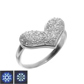 K18WG H&Cダイヤモンド計0.50ct ふっくらハートリング/送料無料
