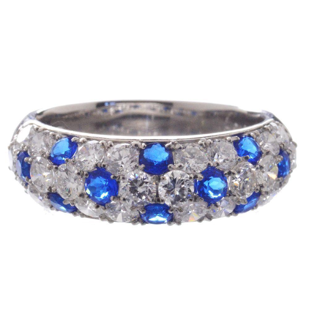 アウイナイト ダイヤモンド リング 指輪 プラチナ Pt950 パヴェ 鑑別書付き 日本製