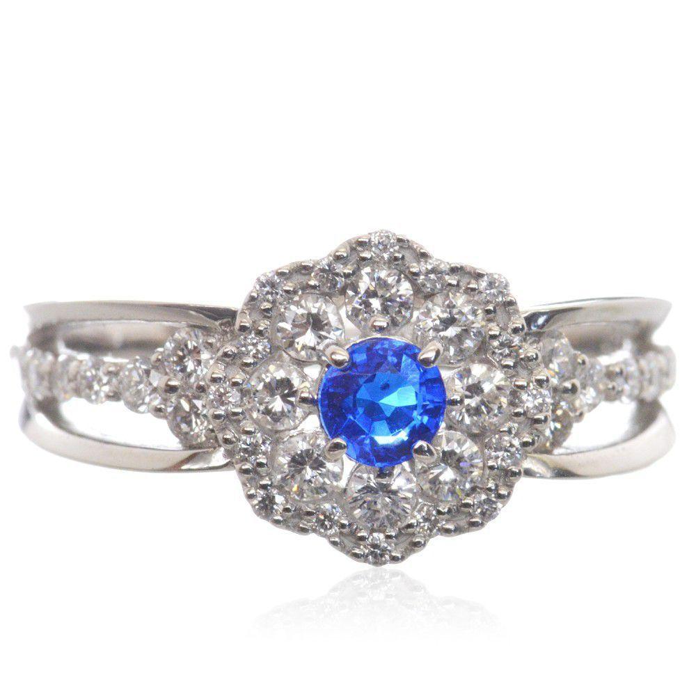 アウイナイト ダイヤモンド リング 指輪 プラチナ Pt950 鑑別書付き 日本製