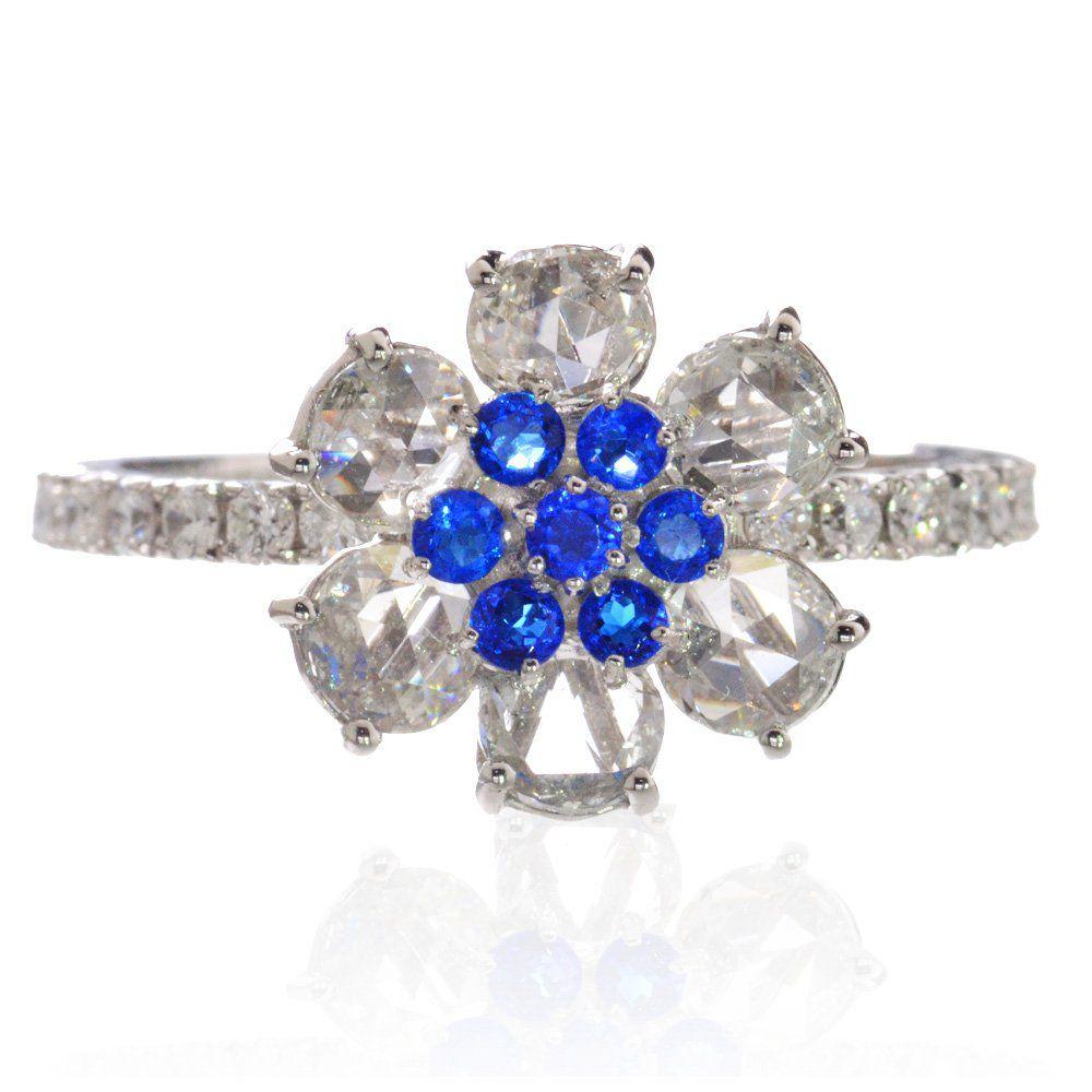 アウイナイト ダイヤモンド リング 指輪 プラチナ Pt950 ローズカット 鑑別書付き 日本製