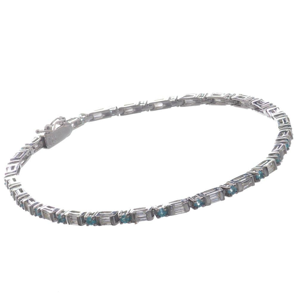 パライバトルマリン ダイヤモンド ブレスレット プラチナ Pt850 鑑別書付き 日本製