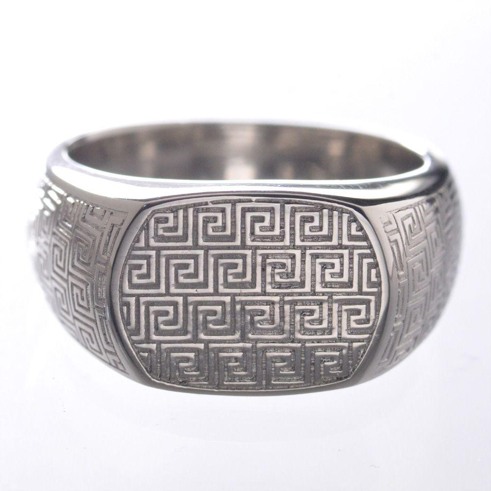 指輪 メンズリング プラチナ Pt950 印台 男性用 日本製 刻印入り