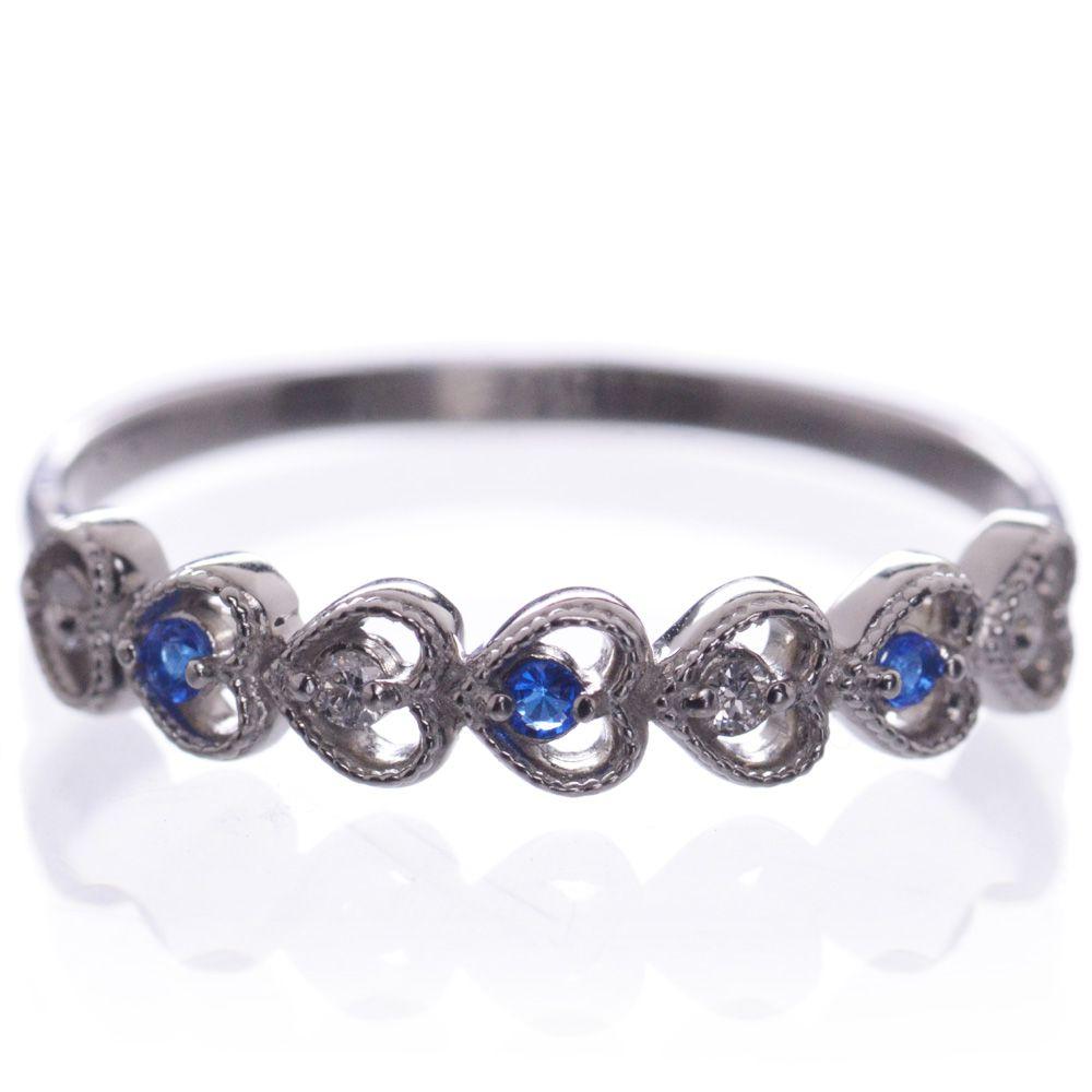 指輪 レディース アウイナイト ダイヤモンド リング プラチナ Pt950 ハート 鑑別書付き 日本製