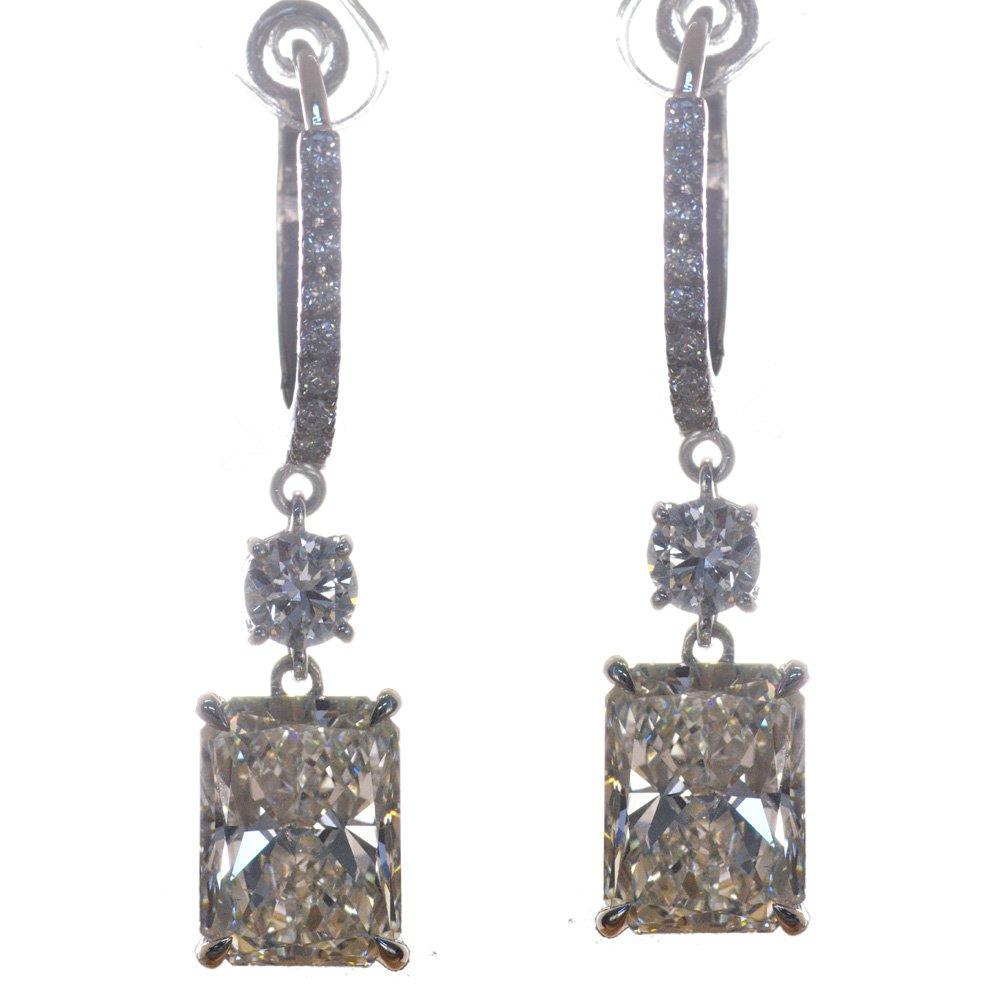 6カラット ダイヤモンド ピアス Pt950 フック GIA 中央宝石研究所 ソーティング付き