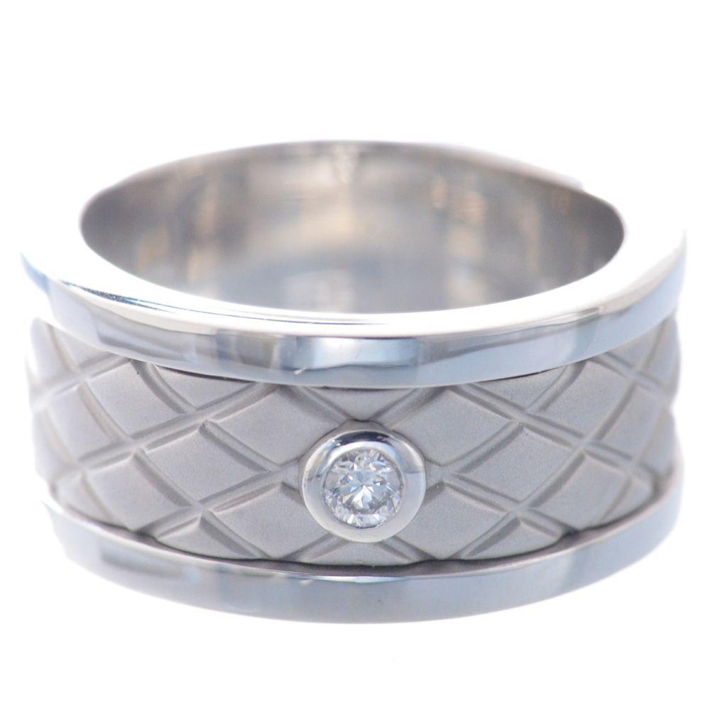 指輪 メンズ プラチナ ダイヤモンド リング 幅広 艶消し