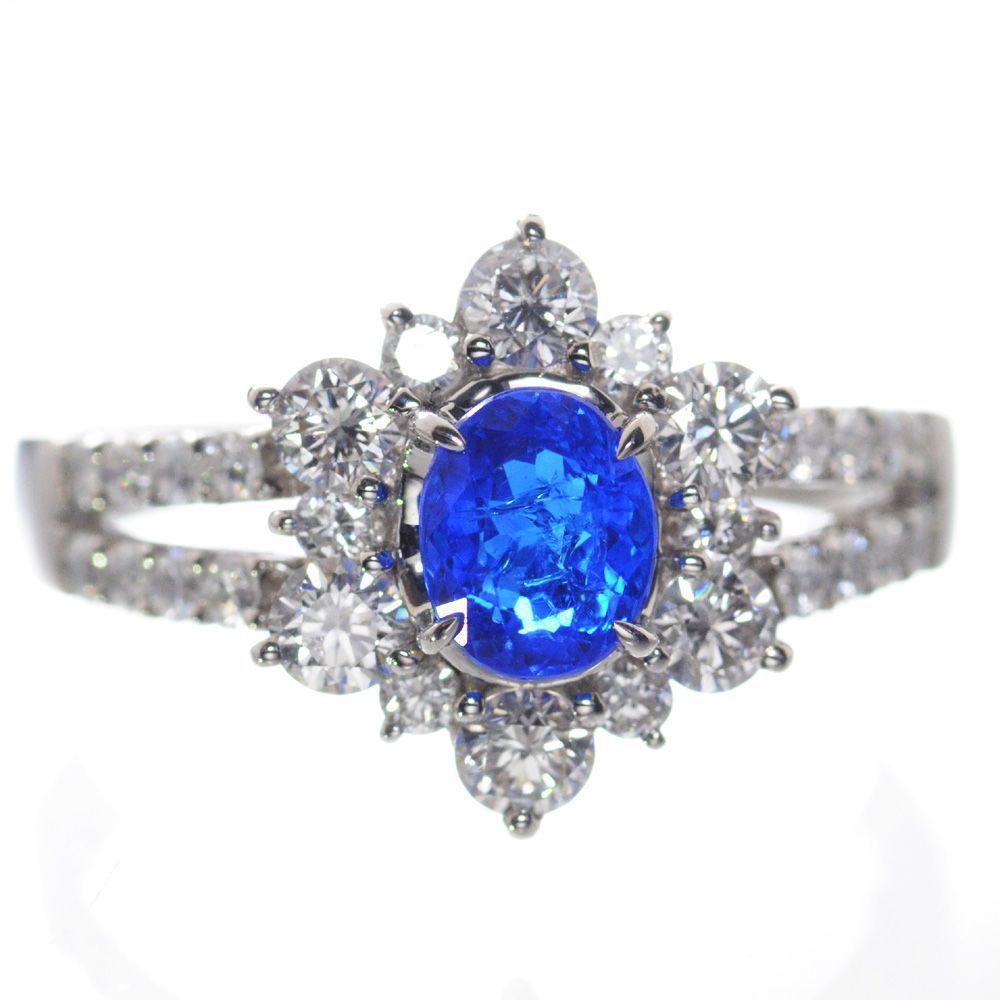 指輪 レディース アウイナイト ダイヤモンド リング プラチナ Pt950 12号 鑑別書付き 日本製 現品限り