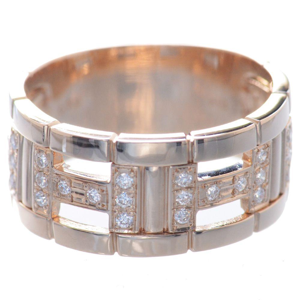 メンズリング 18金ピンクゴールド ダイヤモンド K18PG 指輪 男性用