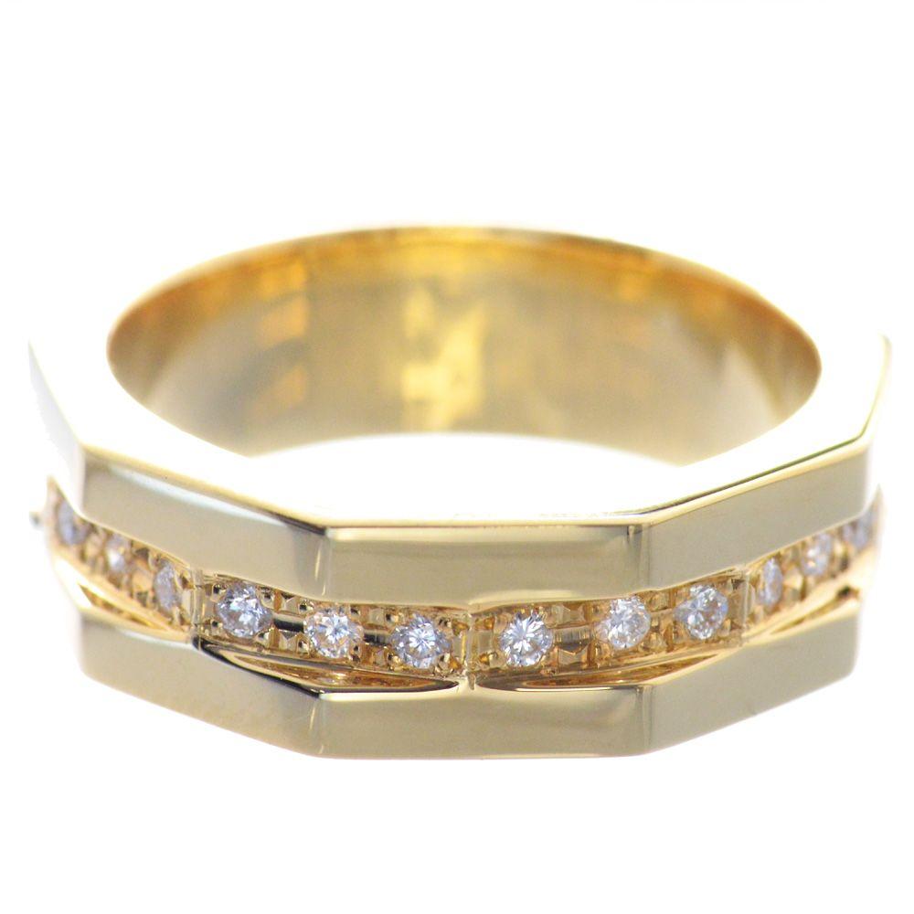 メンズリング 18金 ダイヤモンド K18 指輪 男性用