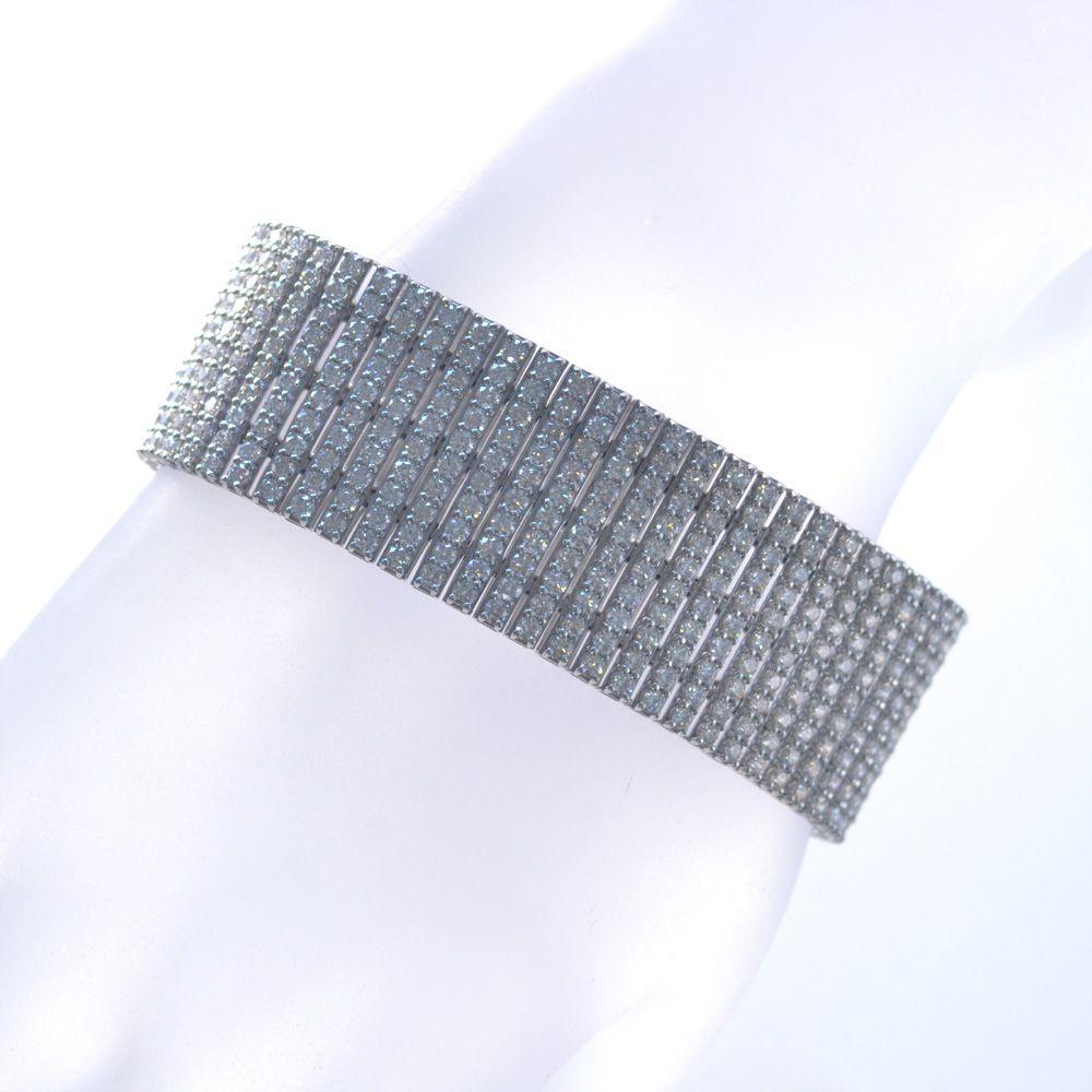 撮影サンプル品あり ダイヤモンド ブレスレット プラチナ 21カラット H&C ハートアンドキューピッド Pt950 鑑別書付き 日本製