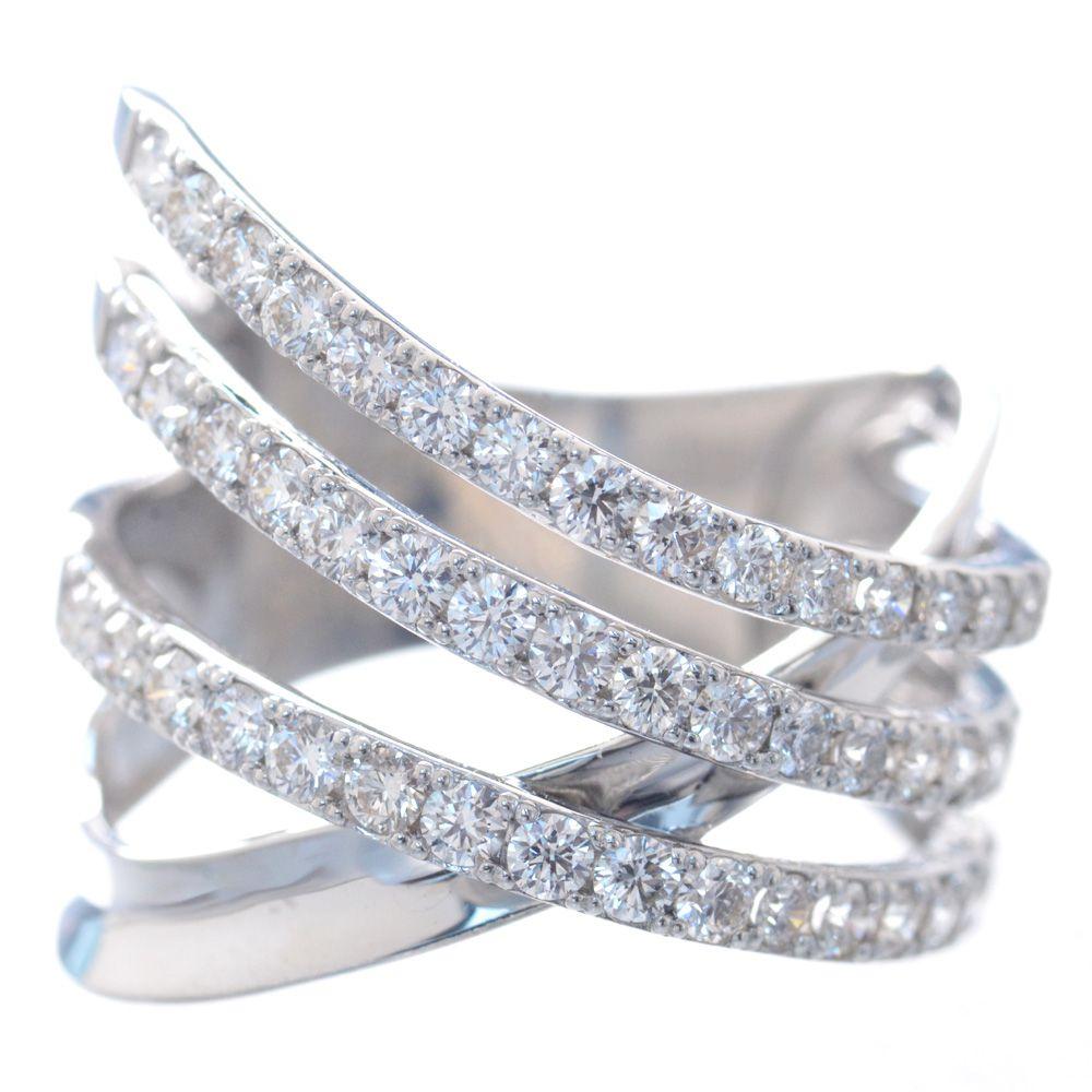 指輪 レディース プラチナ H&C ダイヤモンド リング 鑑別書付き 日本製