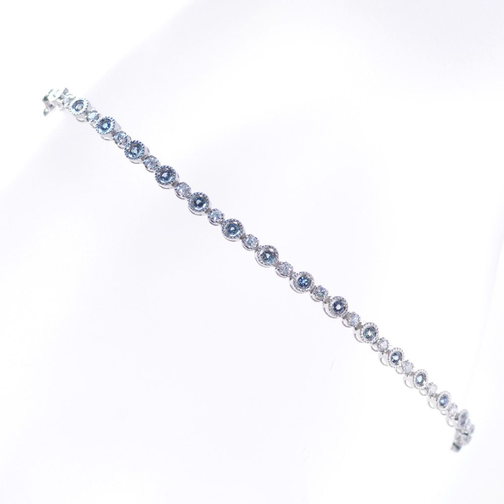 ブレスレット レディース プラチナ アレキサンドライト ダイヤモンド 鑑別書付き 日本製