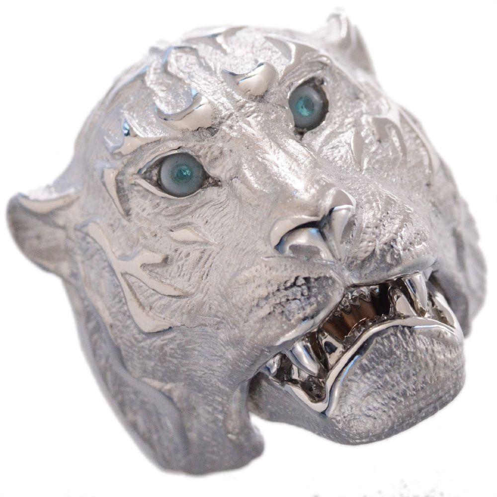 メンズリング プラチナ 虎 タイガー 指輪 パライバトルマリン 18金 k18 18k ピンクゴールド 艶消し 幅広 男性用 日本製 刻印入り 46g