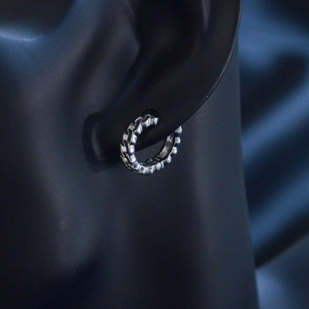 即納 イヤーカフ フープイヤリング プラチナ レディース 圧調整可能 片耳用 シンプル 中折れ 日本製 刻印入り