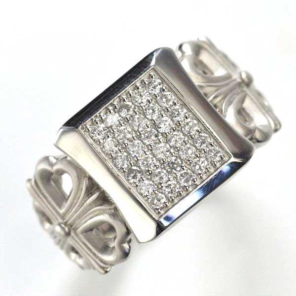 指輪 メンズリング プラチナ Pt900 ダイヤモンド クロス 十字架 男性用 日本製 刻印入り:アクセサリーマート