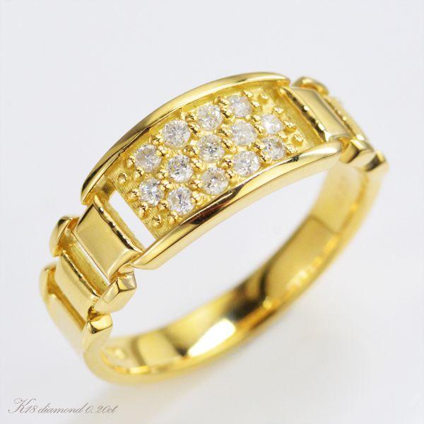 K18 ダイヤモンド リング/送料無料