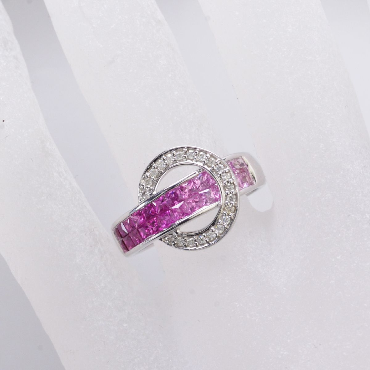 gold ring for pink wh women cocktail fashion sapphire rings p diamond
