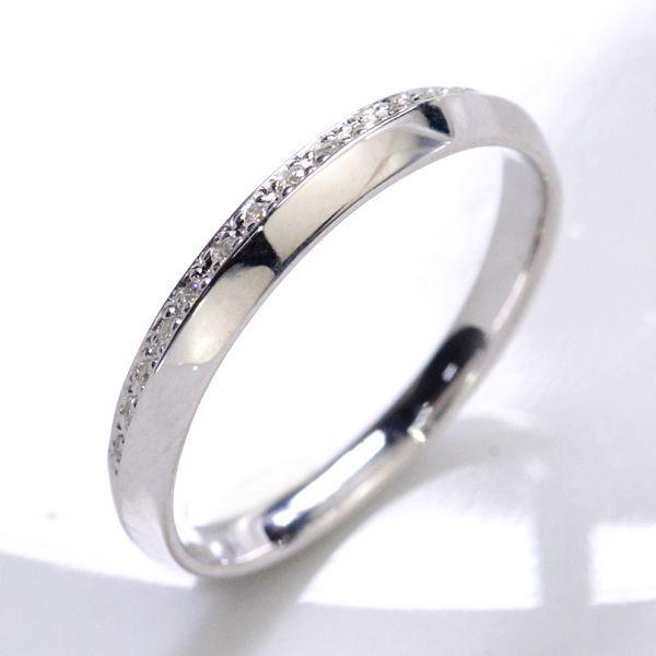 K10WG ダイヤモンド0.06ct Iライン ペアリング レディース/送料無料