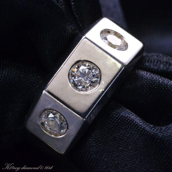 【在庫処分】 指輪 メンズリング 18金 K18 18K ホワイトゴールド ダイヤモンド 男性用 日本製 刻印入り ごつい 太め 大きいサイズ 作製可能, 物産展グルメ c90109f9