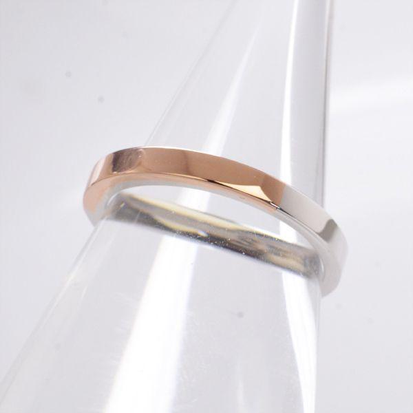 結婚指輪 マリッジリング プラチナ ピンクゴールド ペアリング レディース ananya/送料無料